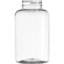 13.5 oz. (400 cc) Clear PET Plastic Packer Bottle, 53mm 53-400