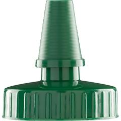38mm Hi Flow Forest Green Spout Cap w/Pressure Sensitive Liner