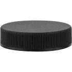43mm 43-400 Black Ribbed (Matte Top) Plastic Cap w/Foam Liner (3-ply)