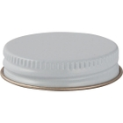 43mm 43-400 White/Gold Metal Cap with Plastisol Liner