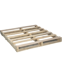 """48"""" x 45"""" Recycled Light Duty Wood Pallet, 2-Way Fork Access"""
