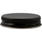 45mm 45-400 Black/Gold Metal Cap with Pulp & Poly Liner
