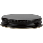 48mm 48-400 Black/Gold Metal Cap with Pulp & Poly Liner