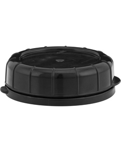 48mm Black Plastic Tamper Evident Snap On Cap