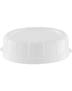 48mm White Plastic Tamper Evident Snap On Cap