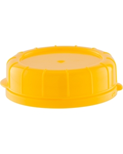 48mm Yellow Plastic Tamper Evident Snap On Cap