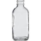 4 oz. Clear Boston Round Glass Bottle, 24mm 24-400