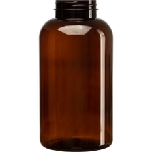 32 oz. (950 cc) Amber PET Plastic Packer Bottle, 53mm 53-400