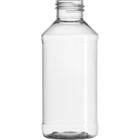 4 oz. Clear PET Plastic Modern Round Bottle, 24mm 24-410