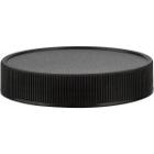 58mm 58-400 Black Ribbed (Matte Top) Plastic Cap w/PV Liner