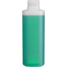 4 oz. Natural HDPE Plastic Cylinder Bottle, 24mm 24-410