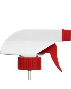 """White/Red Trigger Sprayer, 9-1/4"""" Dip Tube, 28mm 28-400"""