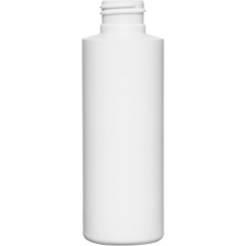 4 oz. White HDPE Plastic Cylinder Bottle, 24mm 24-410