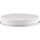 63mm 63-400 White/Gold Metal Cap with Pulp & Poly Liner