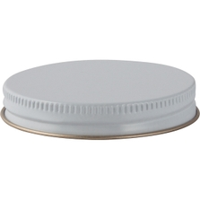 63mm 63-400 White/Gold Metal Cap with Plastisol Liner