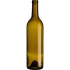 750 ml Antique Green Bordeaux Wine Bottles, Punted Bottom, Cork