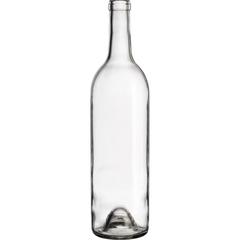 750 ml Clear Bordeaux Wine Bottles, Punted Bottom, Cork