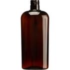 15 oz. (450 ml) Amber PET Plastic Oval Bottle, 28mm 28-415