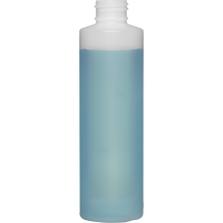 6 oz. Natural HDPE Plastic Cylinder Bottle, 24mm 24-410