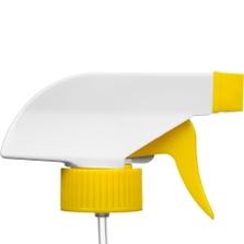 "White/Yellow Trigger Sprayer, 9-1/4"" Dip Tube, 28mm 28-400"