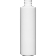 6 oz. White HDPE Plastic Cylinder Bottle, 24mm 24-410