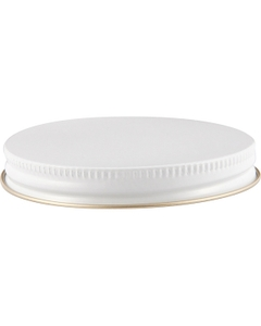 70mm 70-400 White/Gold Metal Cap with Pulp & Poly Liner