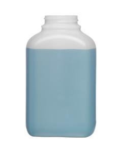 16 oz. (500 cc) Natural HDPE Oblong Packer Bottle, 43mm 43-400