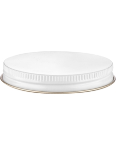 70mm 70-400 White/Gold Metal Cap with Plastisol Liner