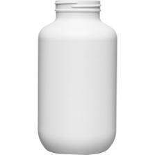 25 oz. (750cc) White HDPE Plastic Packer Bottle, 53mm 53-400