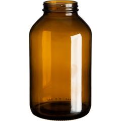 25 oz. (750 cc) Amber Glass Packer Bottle, 53mm 53-400