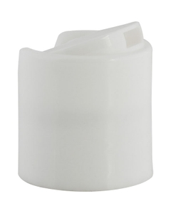 28mm 28-410 White Disc Top Cap with Pressure Sensitive Liner