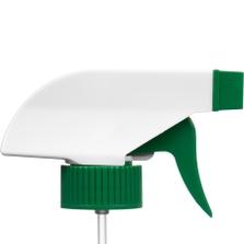 """White/Green Trigger Sprayer, 9-1/4"""" Dip Tube, 28mm 28-400"""