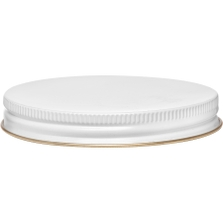 89mm 89-400 White/Gold Metal Cap with Pulp & Poly Liner