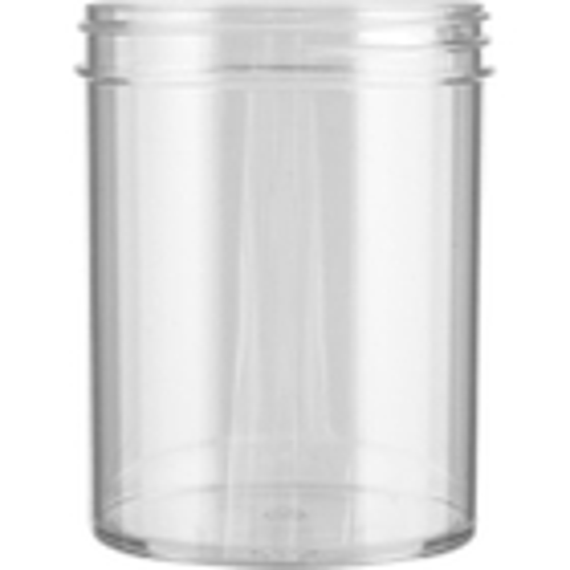 8 oz. Clear Plastic Jar, Straight Sided, 70mm 70-400