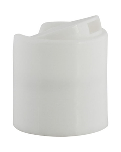 28mm 28-410 White Smooth Disc Top Cap, Unlined
