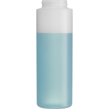 8 oz. Natural HDPE Plastic Cylinder Bottle, 38mm 38-400