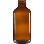 8 oz. Amber Boston Round Glass Bottle, 28mm 28-400