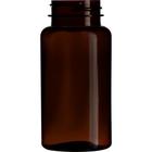 5 oz. (150 cc) Dark Amber PET Plastic Packer Bottle, 38mm 38-400