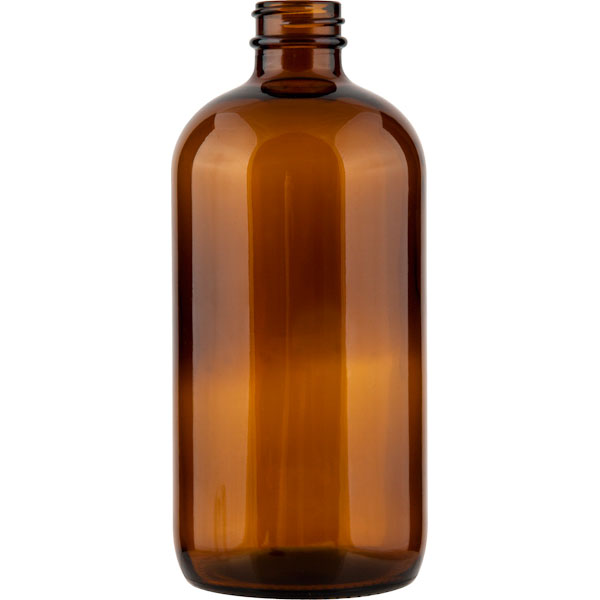 L Amber Pump Glass Bottle