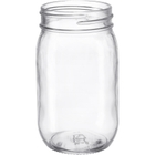 16 oz. Clear Glass Mayo Jar, 70mm 70-450