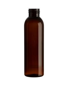 4 oz. Light Amber PET Plastic Bullet Round Bottle, 24mm 24-410