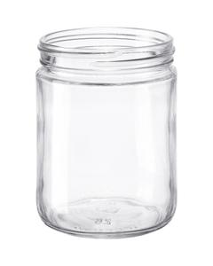 "16 oz. Clear Glass Straight Sided ""Salsa"" Jar, 83mm 83-405"