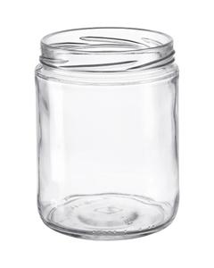 "16 oz. Clear Glass Straight Sided ""Salsa"" Jar, 82mm 82-2040"