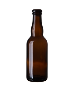 12.68 oz. (375 ml) Amber Glass Belgian Beer Bottles, Cork, 24/cs