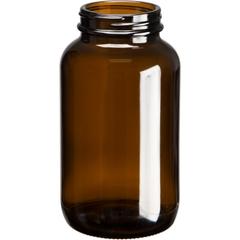 13.5 oz. (400 cc) Amber Glass Packer Bottle, 53mm 53-400