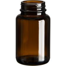 3 oz. (100 cc) Amber Glass Packer Bottle, 38mm 38-400