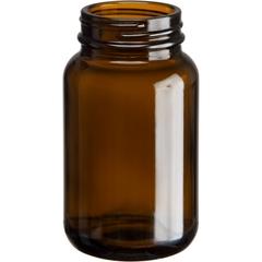 5 oz. (150 cc) Amber Glass Packer Bottle, 45mm 45-400
