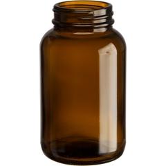 6.75 oz. (200 cc) Amber Glass Packer Bottle, 45mm 45-400