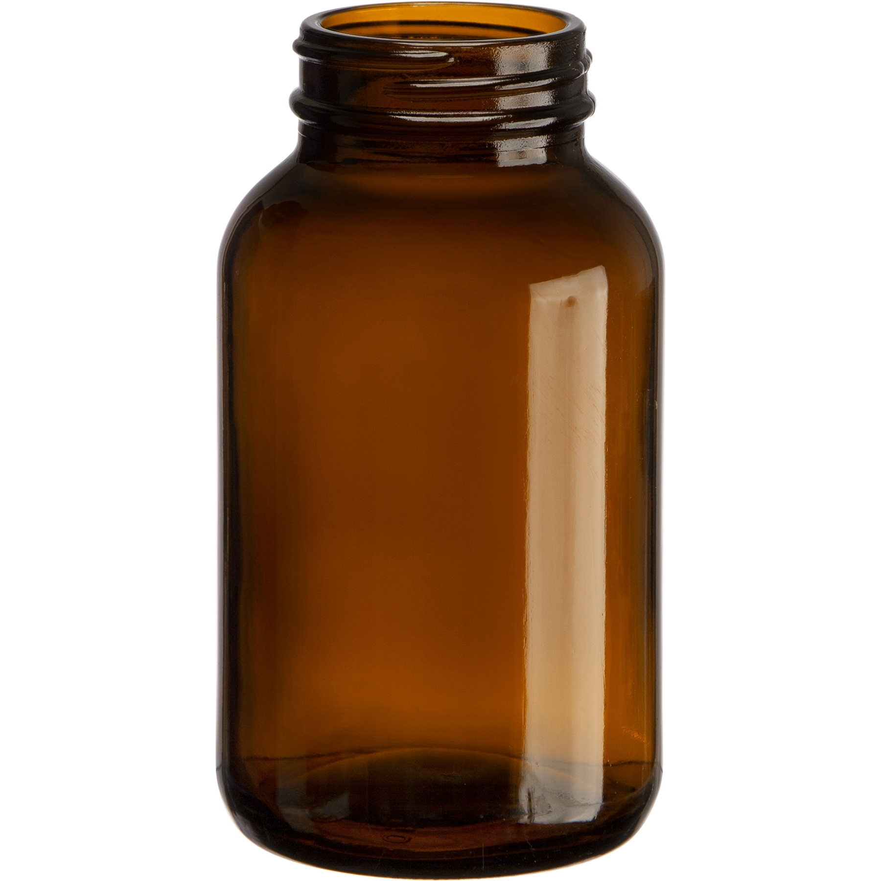 8 oz Orange Glass Drop bottle with Spout