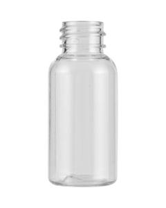 1 oz. Clear Boston Round PET Bottle, 20mm 20-410